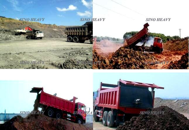 HOWO 6 X 4 Heavy Duty Dump Truck, Single Row Cab LHD รถดัมพ์