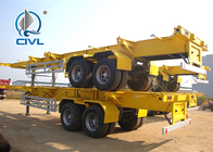 Skeletal Container Semi Trailer 3 Axles 40 Feet Container With JOST Landing Leg
