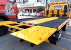 Flat Bed Diesel Engine Wrecker Tow Truck With Lifting Weight 465kgs , Loading 2tons