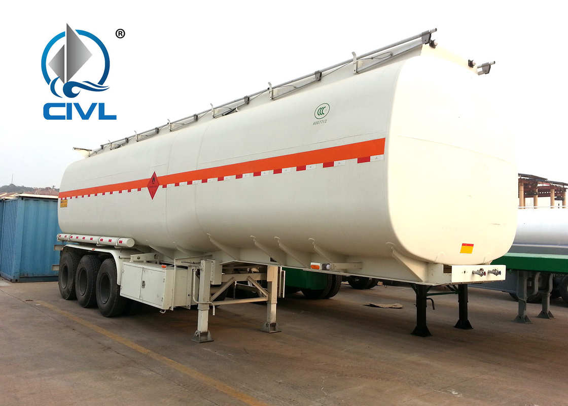 50CBM Oil Tanker Semi Trailer Trucks With Three Axles 5250+1360+1360 Mm Wheel Base