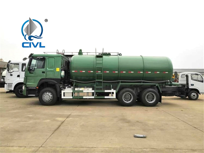 6x4 Sinotruk Howo 18CBM Sewer Suction Sludge Transporter Sewage Suction Truck