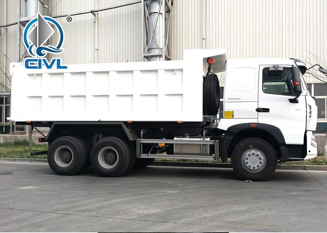 White  371Hp Tipper Heavy Duty Dump Truck For Bad Road Condition Overloading