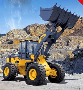 Front End Loader Compact Wheel Loader 5T 3m3 Bucket Capacity, Compact Tractor Front Loader